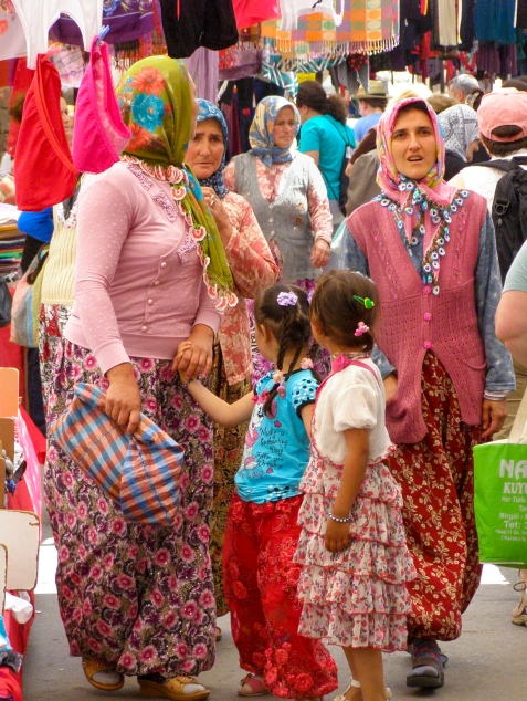 A vibrant kaleidiscope of color fills the streets of Ayvalik on market day, when villagers from the outlying hamlets come into town.