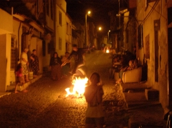 Some villagers still light bonfires, dance and jump over the flames in celebration of Spring.